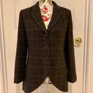CABI grey windowpane tweed equestrian jacket - 6